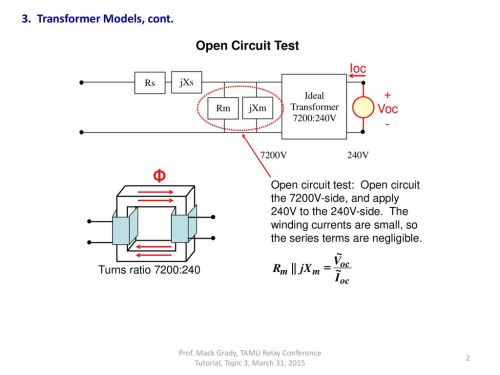 small resolution of transformer models cont open circuit test ioc voc