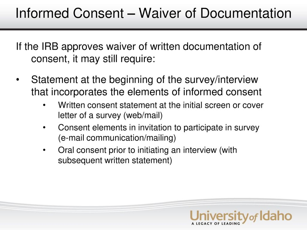 Irb Administrator Cover Letter The University Of Idaho Ppt Download