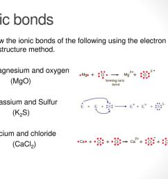 ionic bonds show the ionic bonds of the following using the electron dot structure method  [ 1024 x 768 Pixel ]
