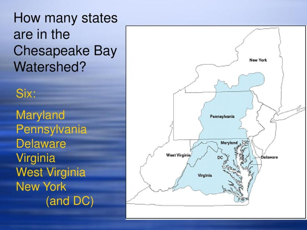 medium resolution of how many states are in the chesapeake bay watershed