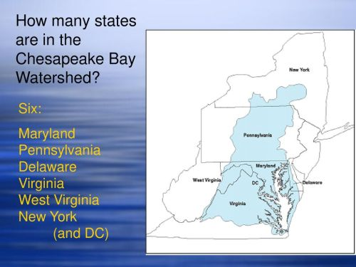 small resolution of how many states are in the chesapeake bay watershed