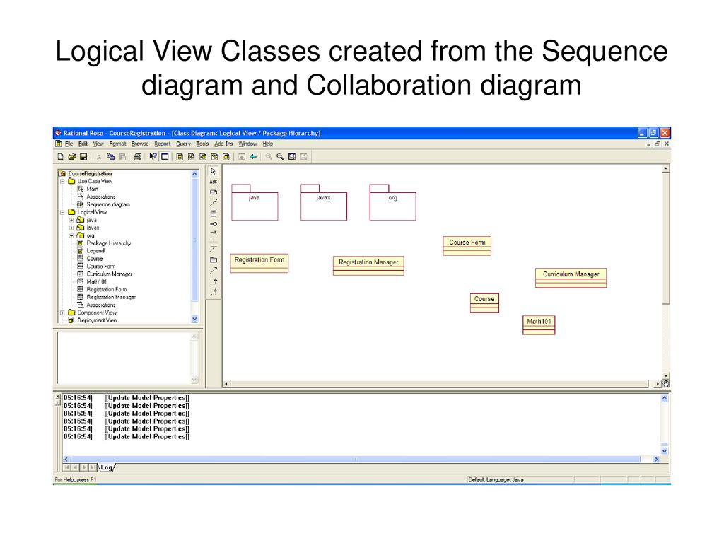 hight resolution of 7 logical view classes created from the sequence