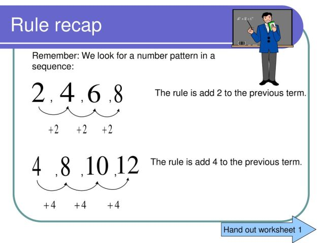 Patterns and Algebraic rules - ppt download