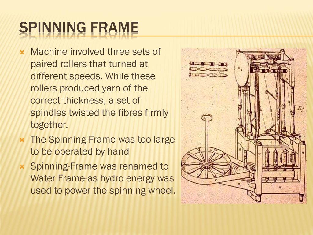 hight resolution of spinning frame