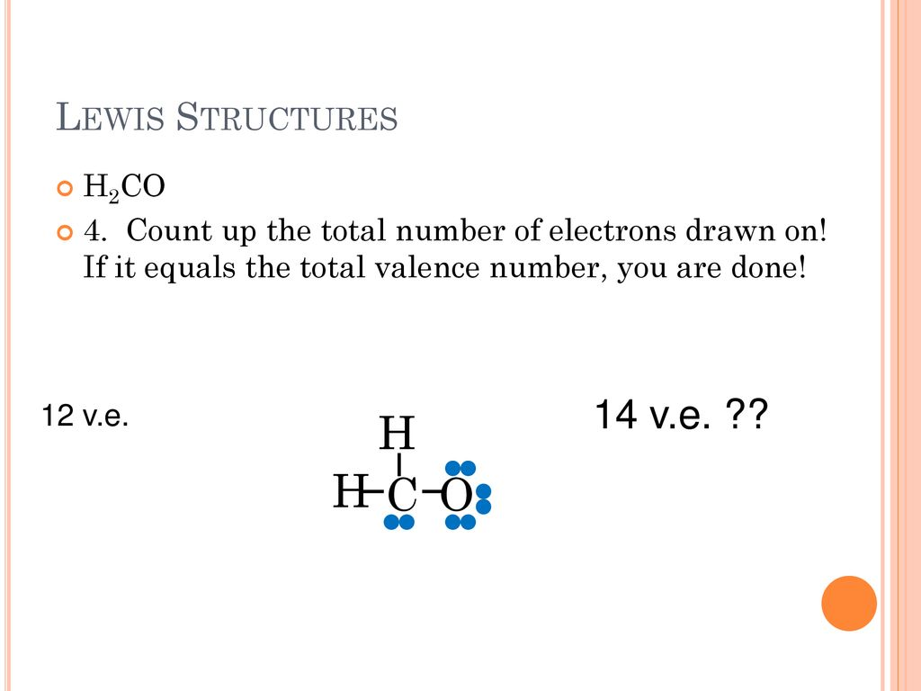 hight resolution of h h c o 14 v e lewis structures h2co