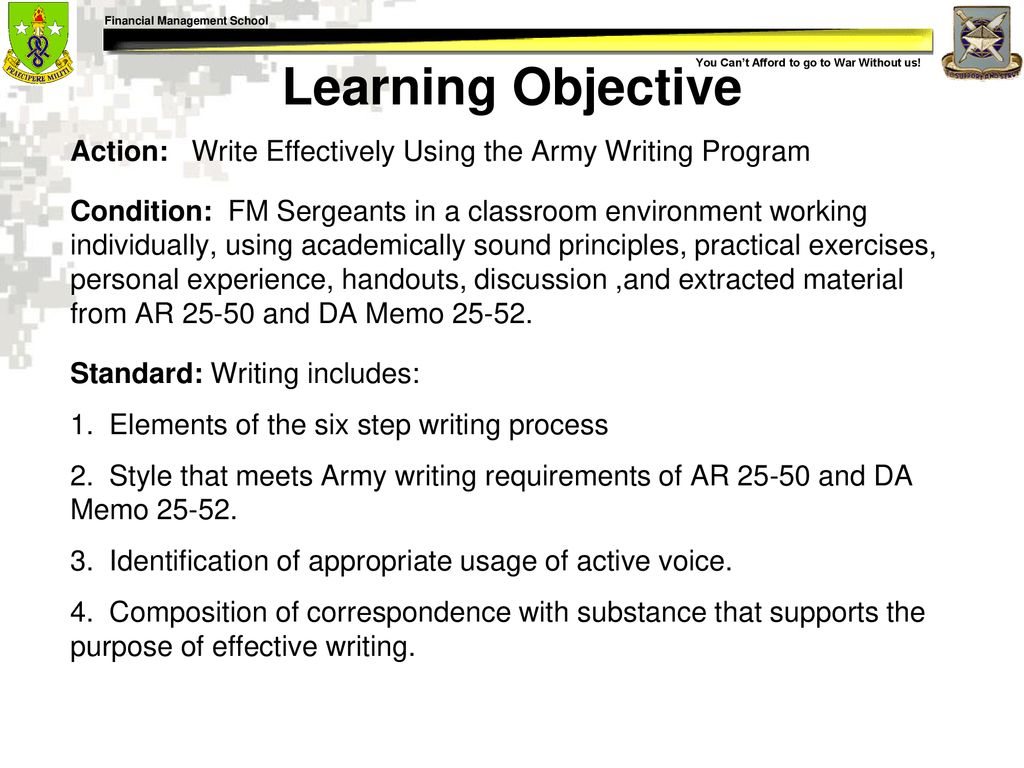 Effective Writing For Army Leaders