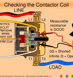 checking the contactor coil [ 1024 x 768 Pixel ]
