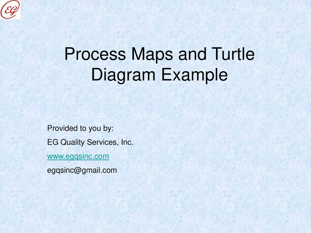 hight resolution of process maps and turtle diagram example