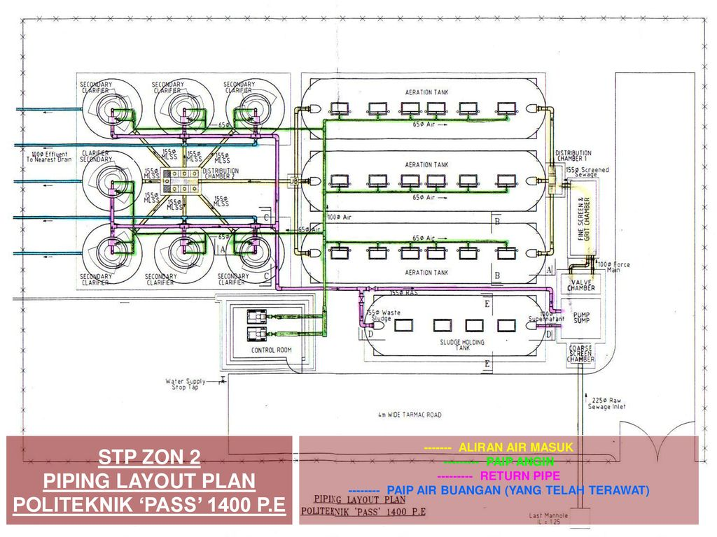 hight resolution of stp zon 2 piping layout plan politeknik pass 1400 p e