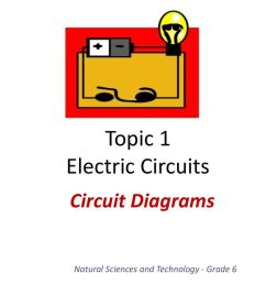 circuit diagrams natural sciences and technology grade 6 topic 1 electric circuits [ 1024 x 768 Pixel ]