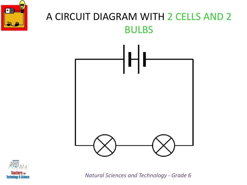 medium resolution of a circuit diagram with 2 cells and 2 bulbs