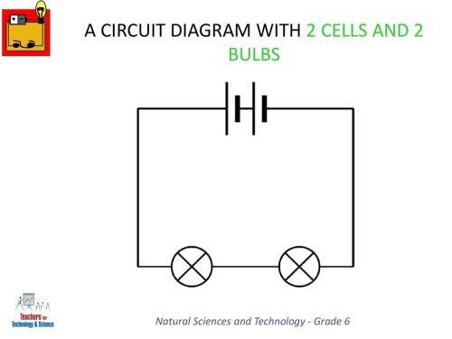 small resolution of a circuit diagram with 2 cells and 2 bulbs