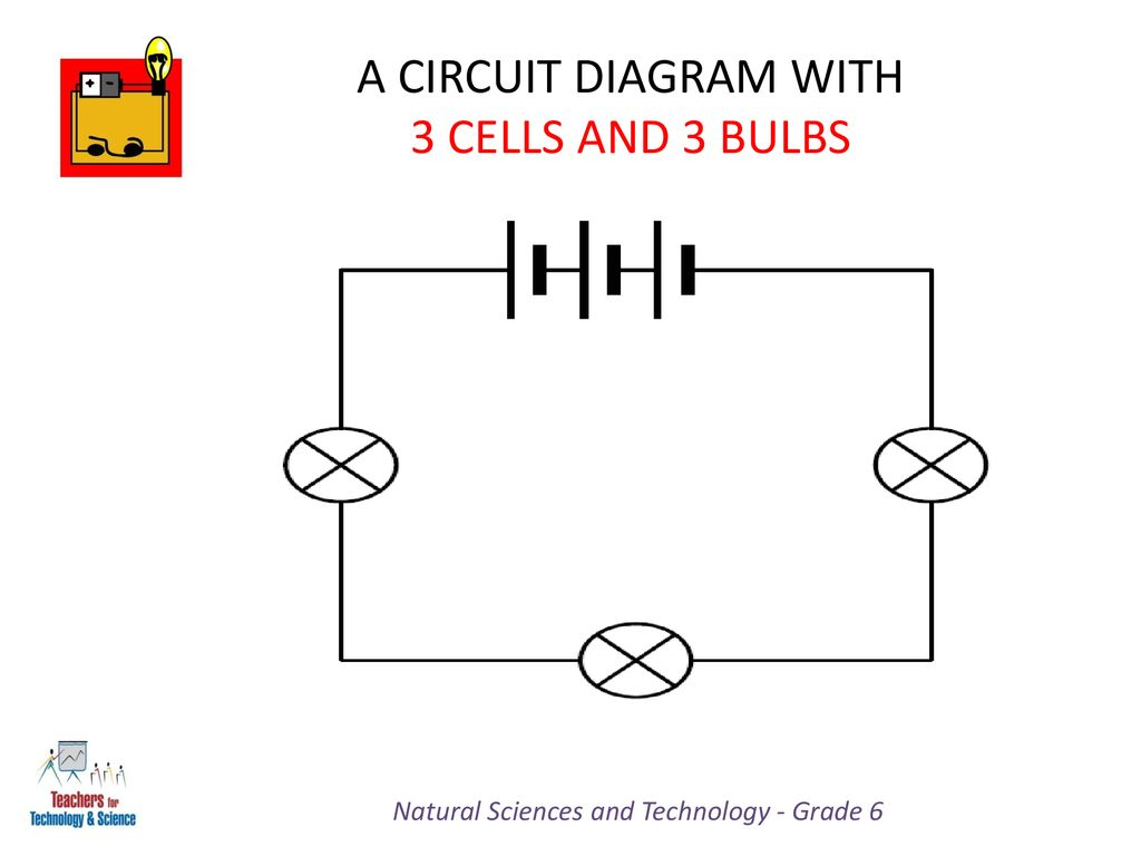 hight resolution of a circuit diagram with 3 cells and 3 bulbs