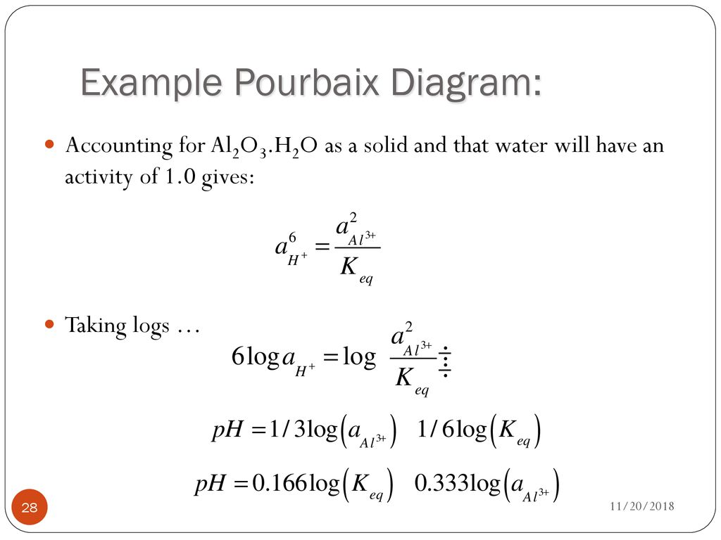pourbaix diagram of water and aluminum chocolate pt phase electrochemistry mae ppt download example