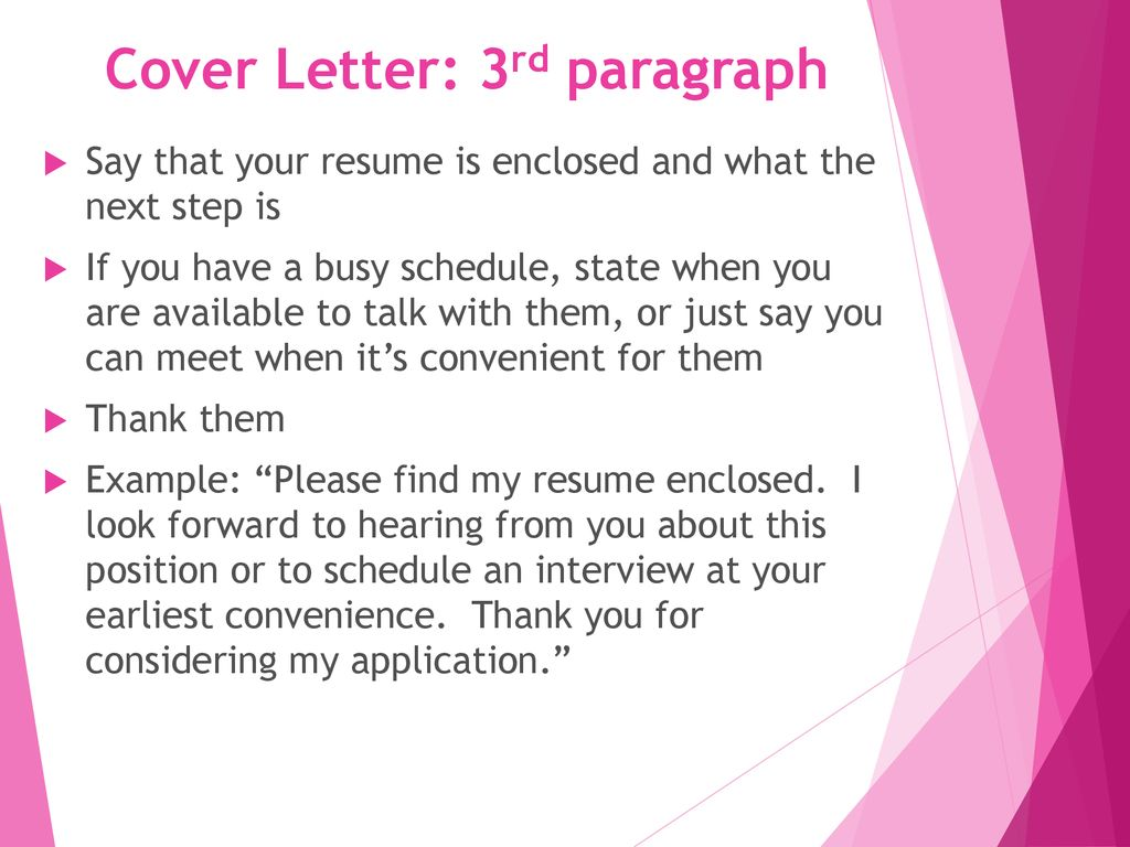 Thank You Letter For Considering My Resume Cover Letter Resume Marketing Ppt Download