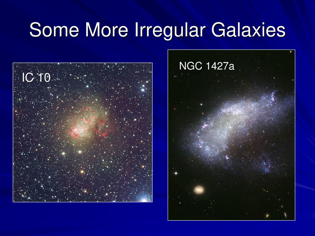 hight resolution of 5 some more irregular galaxies