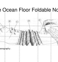 the ocean floor foldable notes [ 1024 x 768 Pixel ]