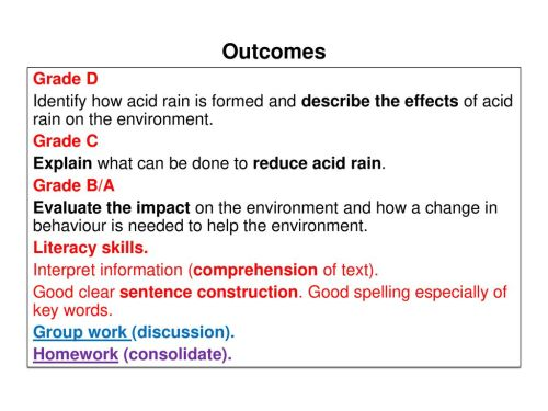 small resolution of acid rain 2 outcomes