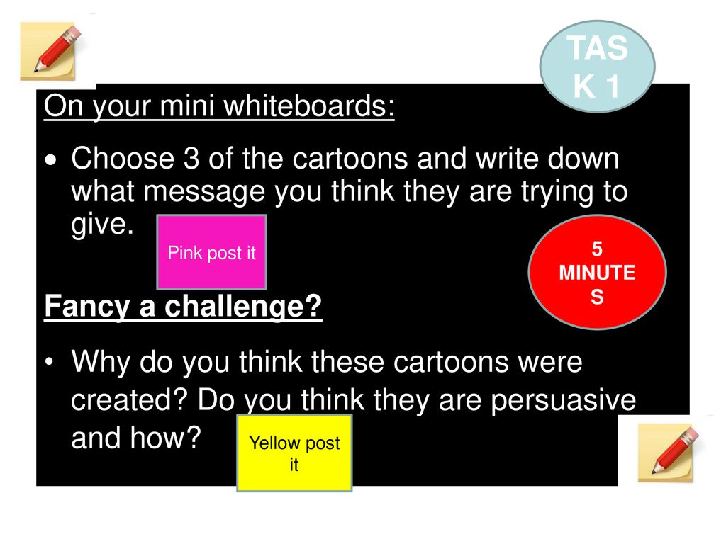 hight resolution of task 1 on your mini whiteboards