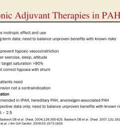 chronic adjuvant therapies in pah [ 1024 x 768 Pixel ]