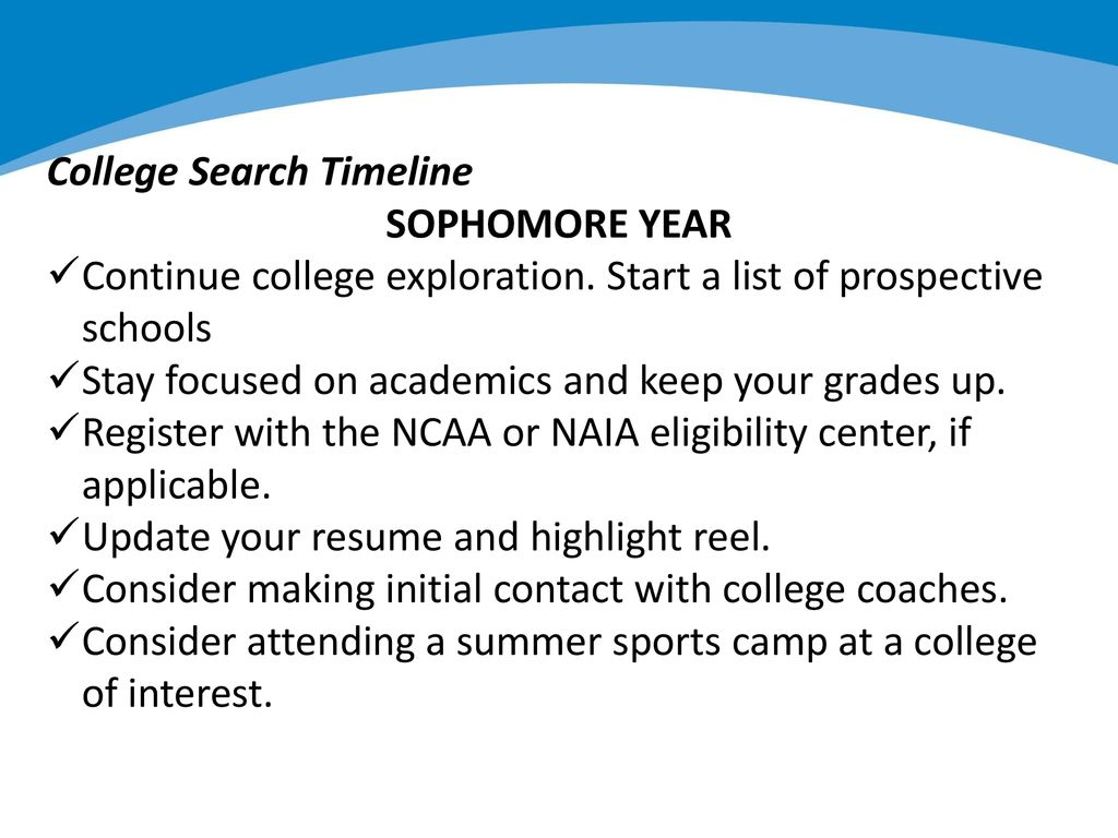College Sophomore Resume Student Athletes The College Admission Process Ppt Download