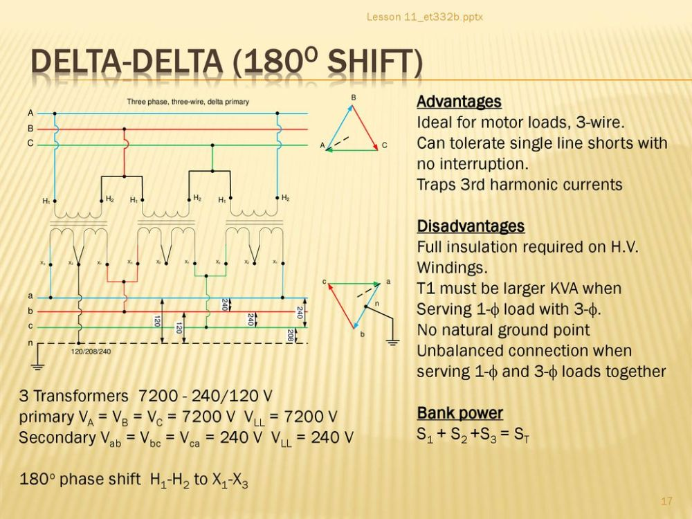 medium resolution of delta delta 180o shift advantages ideal for motor loads 3 wire