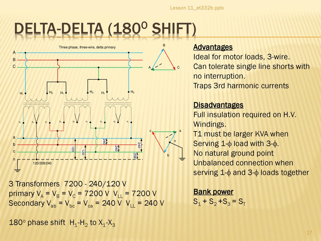 hight resolution of delta delta 180o shift advantages ideal for motor loads 3 wire