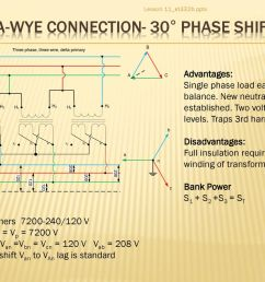 delta wye connection 30 phase shift [ 1024 x 768 Pixel ]