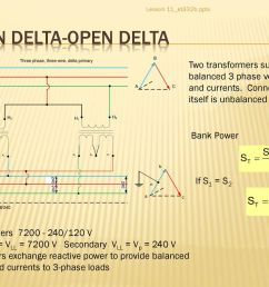 lesson 11 et332b pptx open delta open delta two transformers supply balanced 3 phase [ 1024 x 768 Pixel ]