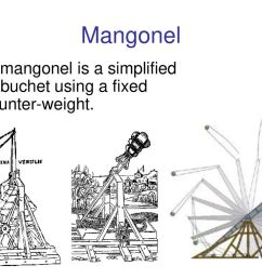 10 mangonel the mangonel is a simplified trebuchet using a fixed counter weight  [ 1024 x 768 Pixel ]