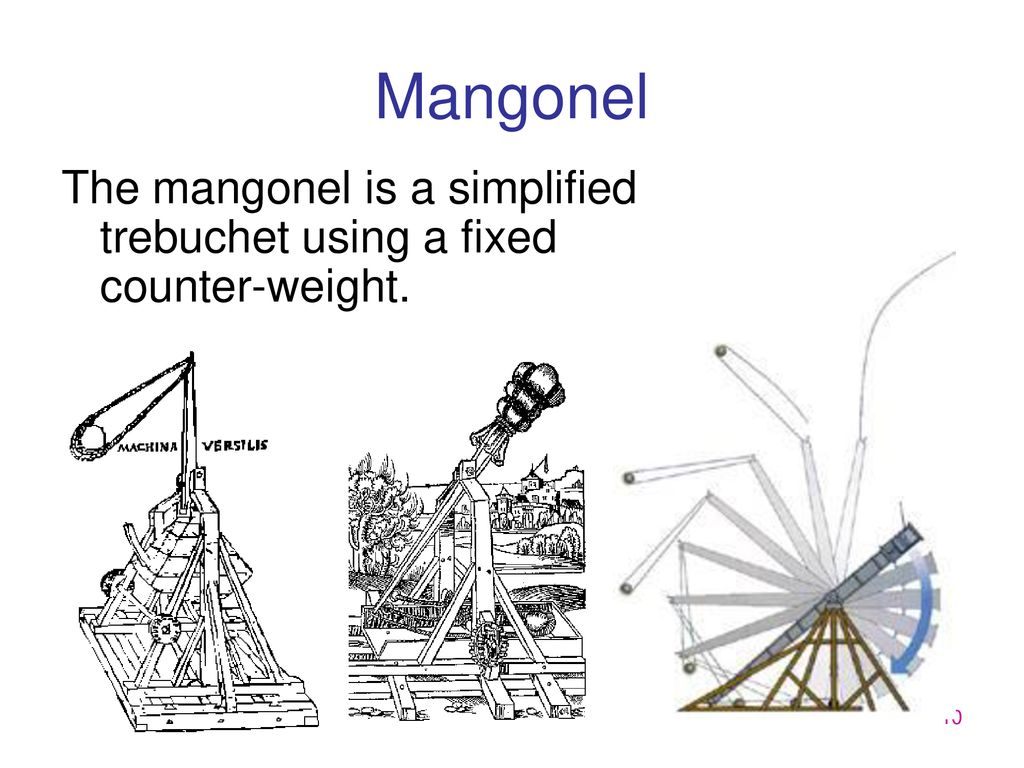 hight resolution of 10 mangonel the mangonel is a simplified trebuchet using a fixed counter weight