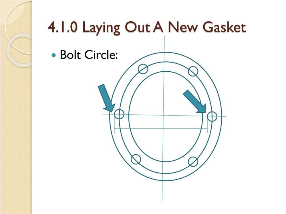 medium resolution of 8 4 1 0 laying out a new gasket bolt circle