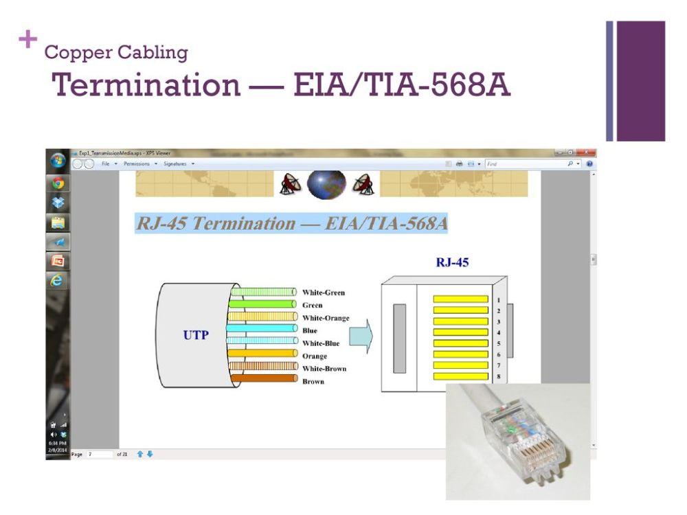 medium resolution of 23 copper cabling termination eia tia 568a
