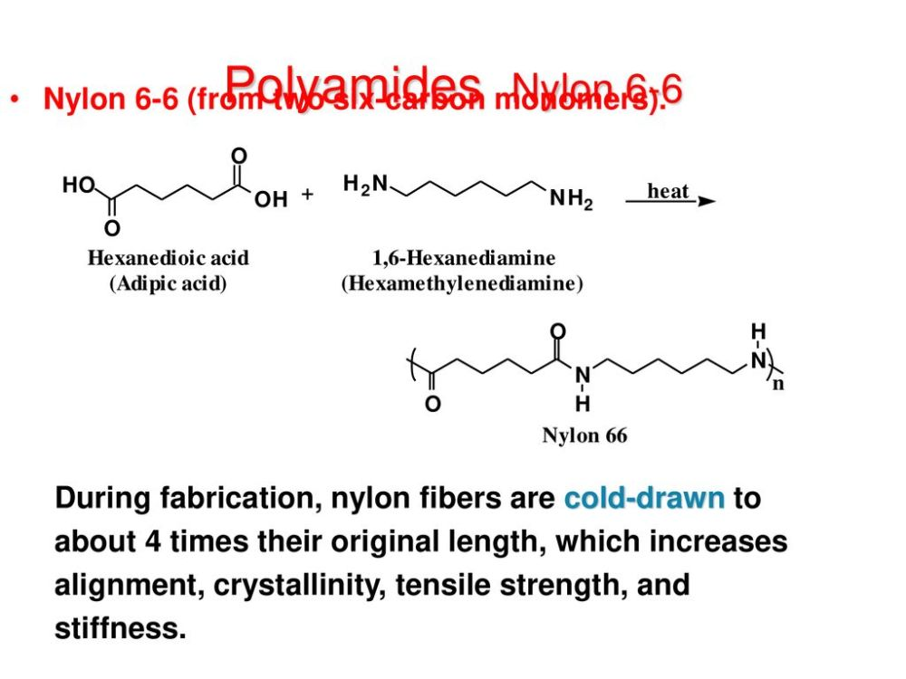 medium resolution of polyamides nylon 6 6 nylon 6 6 from two six carbon monomers