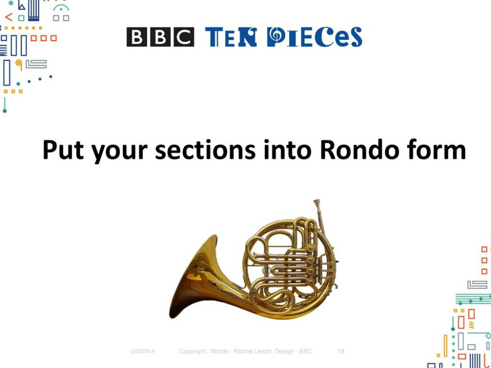 medium resolution of put your sections into rondo form