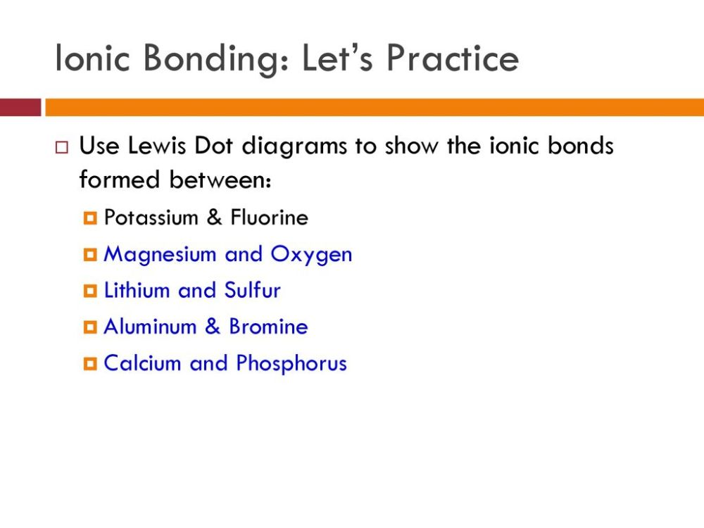 medium resolution of 28 ionic bonding let s practice use lewis dot diagrams
