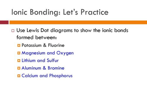 small resolution of 28 ionic bonding let s practice use lewis dot diagrams