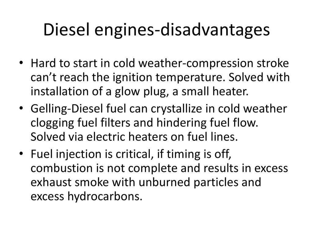 hight resolution of 27 diesel engines disadvantages