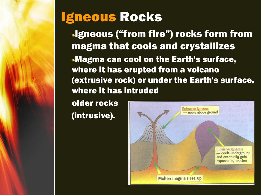 hight resolution of 6 igneous