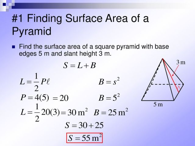 27-27 Surface Areas of Pyramids - ppt download