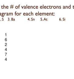 lewis structures and ions do now ppt downloadwrite the of valence electrons and the dot diagram [ 1024 x 768 Pixel ]