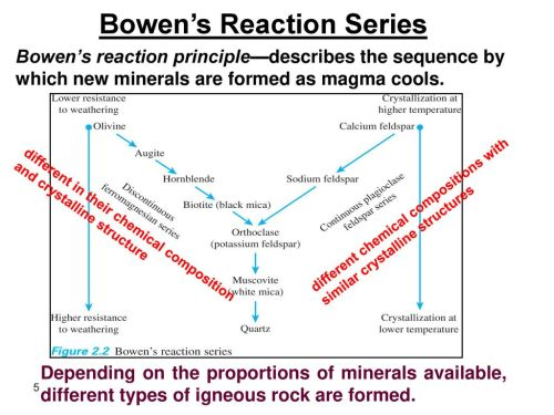 small resolution of 5 bowen s reaction series
