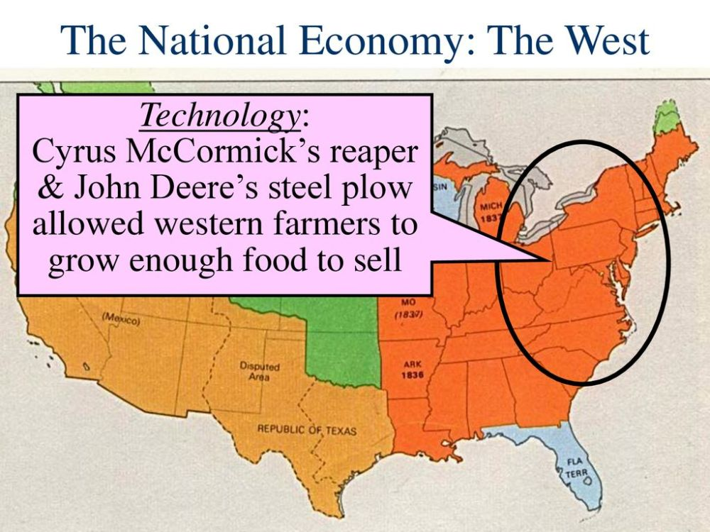 medium resolution of 19 the national economy the west technology cyrus mccormick s reaper john deere s steel plow