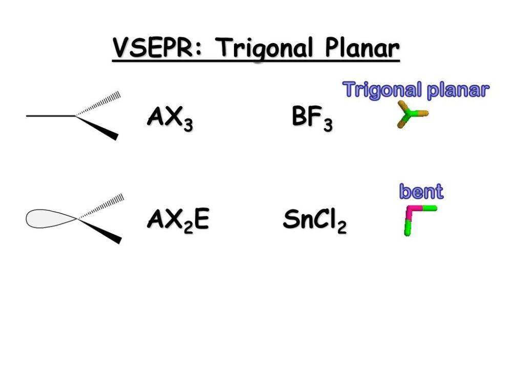medium resolution of 31 vsepr trigonal planar
