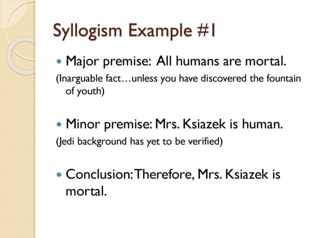 Syllogisms and Enthymemes - ppt download