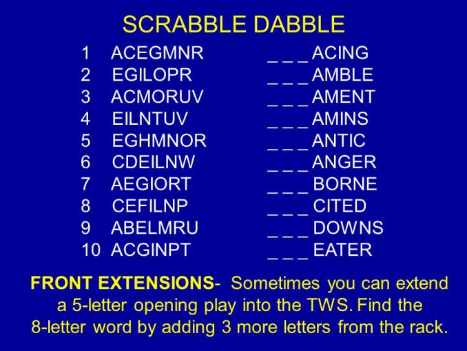 Scrabble Word Finder With 8 Letters Diydry