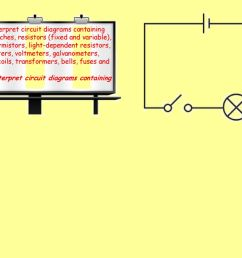 draw and interpret circuit diagrams containing sources switches resistors fixed and variable  [ 1024 x 768 Pixel ]