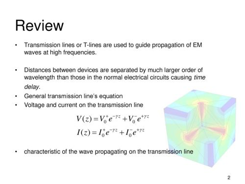 small resolution of review transmission lines or t lines are used to guide propagation of em waves at