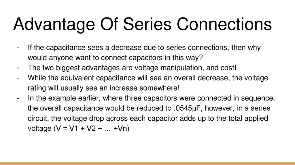 Capacitors In Series And Parallel Ppt Download