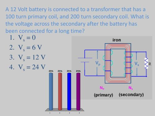 small resolution of what is the voltage across the secondary after the battery has been connected for